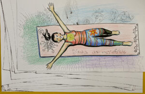Yoga aviertje beeld